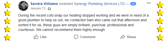 synergy plumbing services facebook review